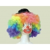 Perruque clown multicolore