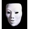 Weißen kunststoff-masken zu dekorieren