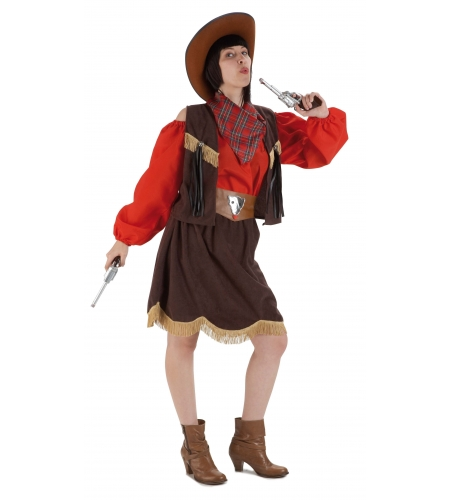 Cowgirl ladies deluxe costume