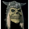 Máscara de crânio viking com cabelo