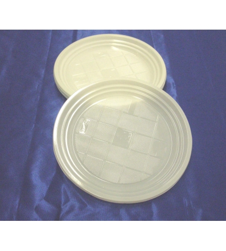 25 plastic plates bag