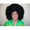 Peruca afro preta super tamanho