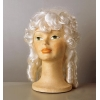 Baroque lady wig white