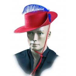 Chapéu de mosqueteiro em feltro