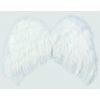 Weiße engels federn flügel