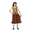 Maidservant medieval kids costume