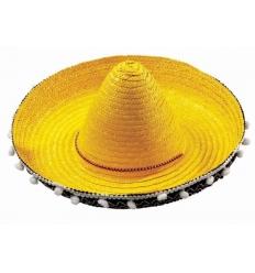 Mexican straw kids sombrero 45 cm.