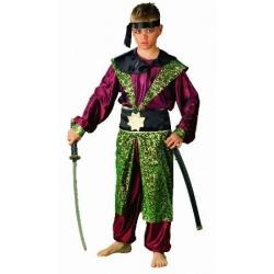Fato de samurai infantil. Tamanho 6