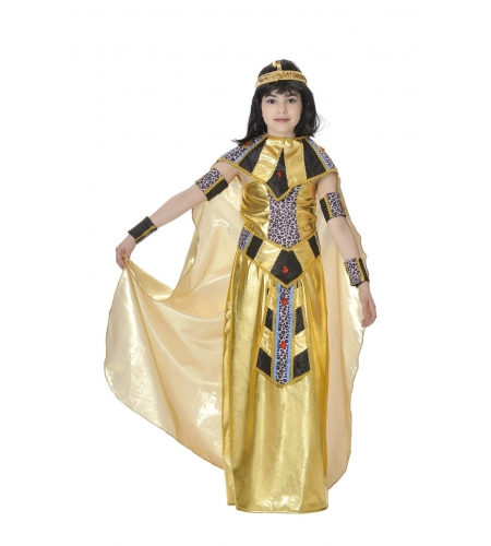 Pharaoh queen of the Nile kids costume