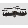 Bat vampir rubber decoratig item