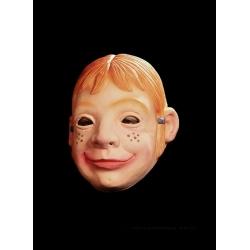 Girl face rubber mask