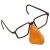 Brille mit nase aus plastik