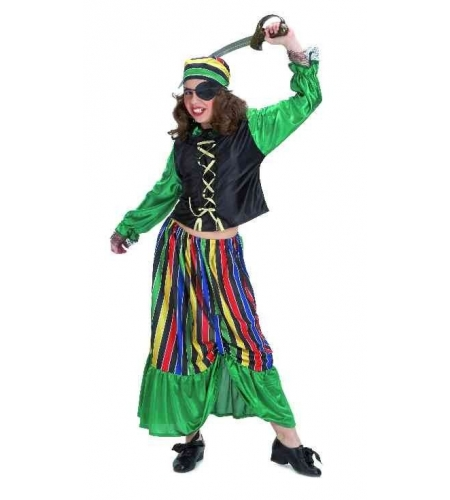 Pirate green girl costume. size 6.