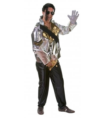 Rock star michel jackson silver costume