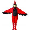 Red adult costume bird