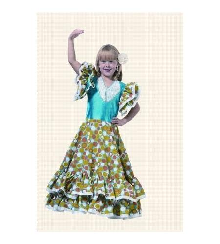 Flamenco dancer girl costume
