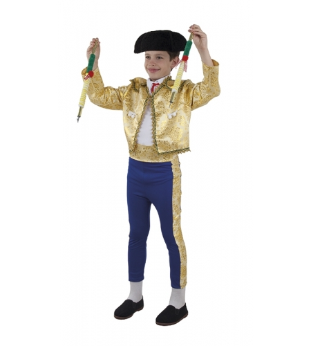Boy bullfighter, suit of lights costume