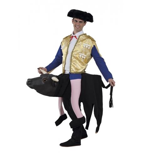 Bull and bullfighter costume