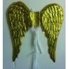 Golden angel wings pvc.