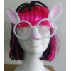 Gafas conejita blanca