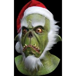 Masque latex green santa claus