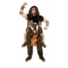 Caveman man costume with dinosaur