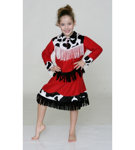 Rodeo cowgirl kids costume