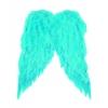 Alas de plumas azules