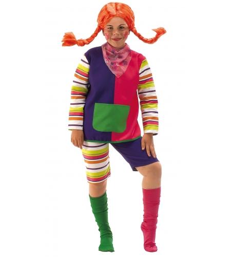 Pippi longstocking kids costume