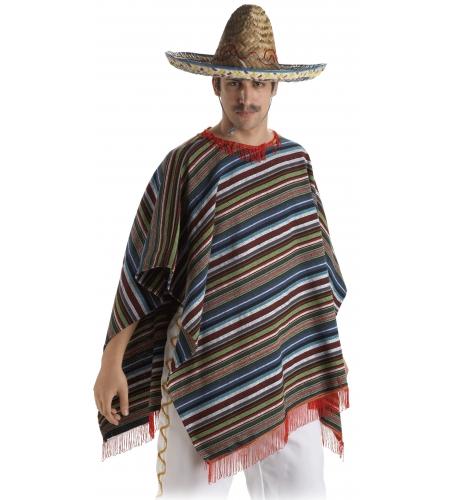 Poncho mejicano adulto