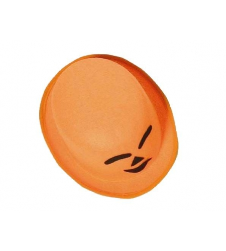 Bowler orange felt halloween hat