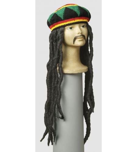 Rastafari hair wig with hat marley