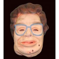 Damen maske mit brille