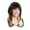 Perruque longue brune mÈches blondes