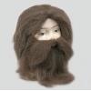 Peruca e barba homem das cavernas
