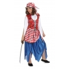 Disfraz bucanera pirata roja infantil