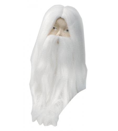 Magician wig and beard